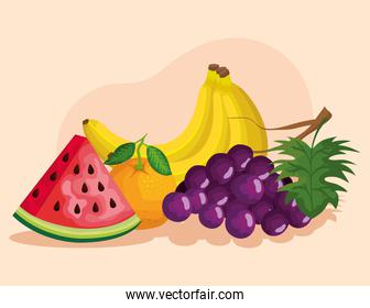 delicious and fresh fruits healthy nutrition