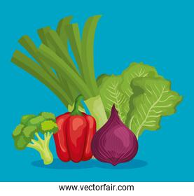 fresh vegetables with healthy nutrition and vitamin