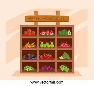 fresh vegetables and fresh healthy products