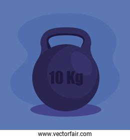 weight activity over purple background