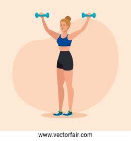 fitness with dumbbells to healthy exercise activity