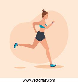 fitness woman running to practice exercise