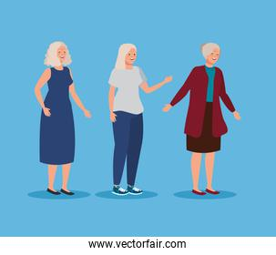 cute old women with hairstyle design