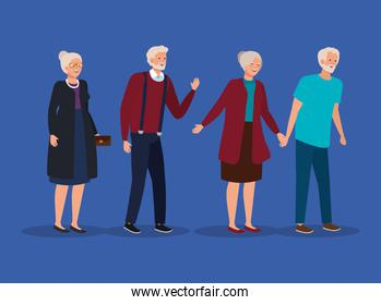 cute old women and men together