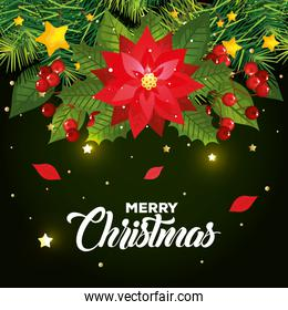 poster of merry christmas and decoration
