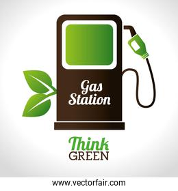 gas, station, fuel, pump, leaf, leaves, eco, green, environment,