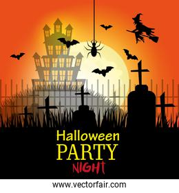 Halloween party design.