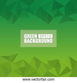 Green background style design