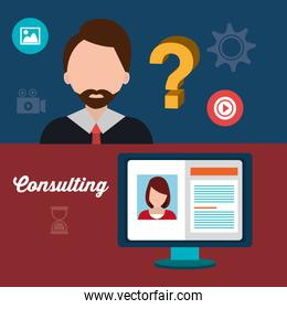 Business professional consulting