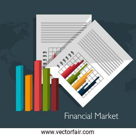 Financial market graphic
