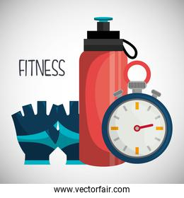 Fitness healthy lifestyle graphic design