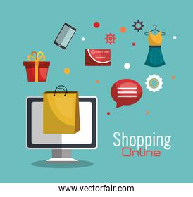 Shopping online and digital marketing