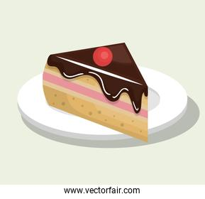 delicious and sweet  cake isolated icon design