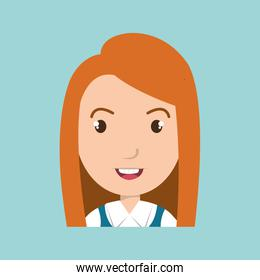 girl student uniform icon
