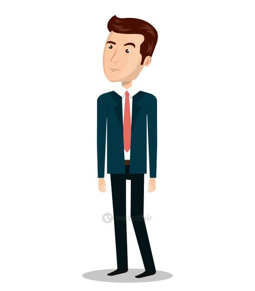businessman character person icon