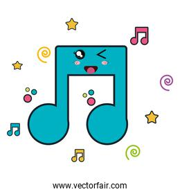 music notes character icon
