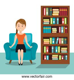 woman sitting on sofa icon