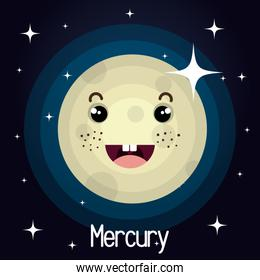mercury planet character space background