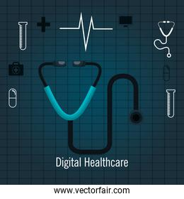 services medical healthcare isolated