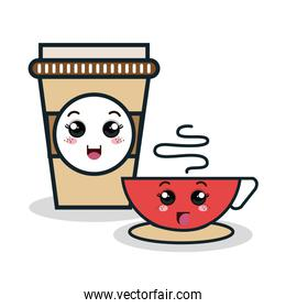 cup coffee plastic facial expression