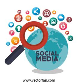 search social media isolated design