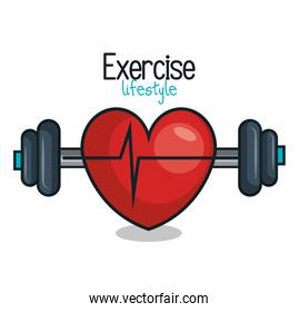 exercise lifestyle barbell heartrate design