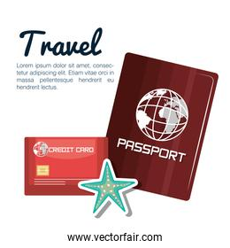 travel passport and credit card design