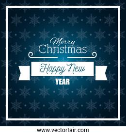 card merry christmas and happy new year graphic