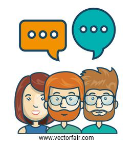 characters chat talk bubble speech graphic