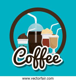 cup glass coffee straw graphic