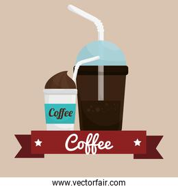 coffee cup plastic banner graphic