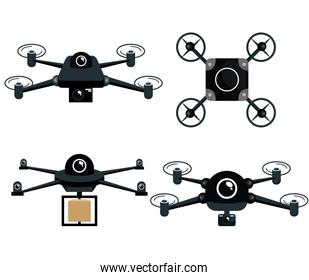 set differents drone