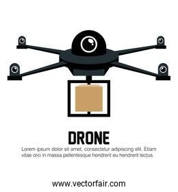 drone black delivery box graphic