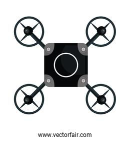 drone quadrocopter black isolated