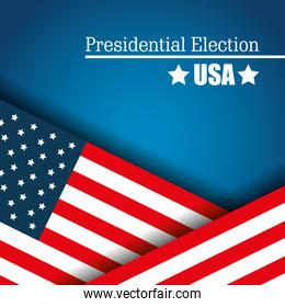 flag usa presidential election graphic