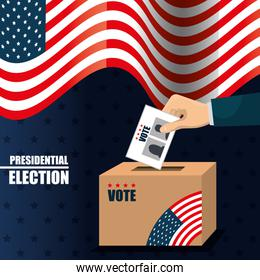 icon voting box election presidential graphic