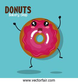 design of donut icing pink graphic