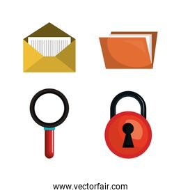 collection safeti system data pc graphic isolated