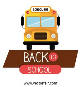 back to school bus yellow design isolated