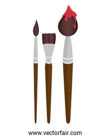 collection brush paint design