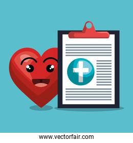report medical cardiology heart isolated design