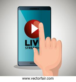 hand touch smartphone media player design
