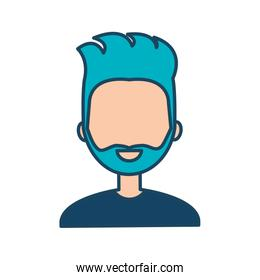 character male social network flat isolated