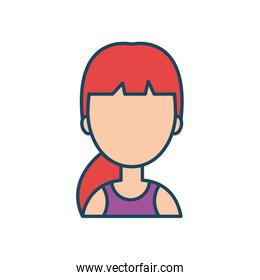 female character social network flat isolated