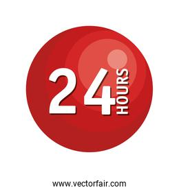 24 hours button icon