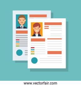 cv document paper isolated icon