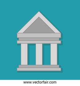 columns building isolated icon