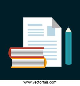 paper with pencil isolated icon