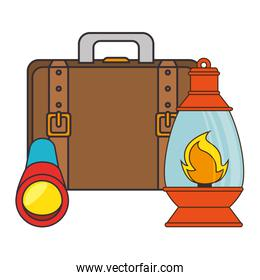 lantern camping isolated icon