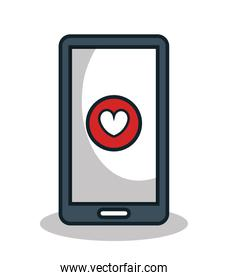smartphone with heart app